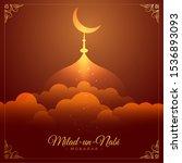 beautiful eid milad un nabi... | Shutterstock .eps vector #1536893093