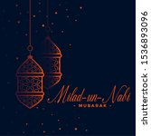lovely eid milad un nabi... | Shutterstock .eps vector #1536893096