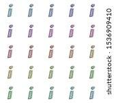 colorful metallic foil letter i ... | Shutterstock . vector #1536909410