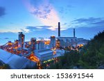 power plant at sunset in hong... | Shutterstock . vector #153691544