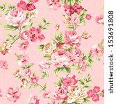 Rose Bouquet Design Seamless...