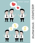 two groups businessmen... | Shutterstock .eps vector #153692309
