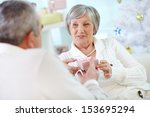 portrait of mature woman... | Shutterstock . vector #153695294