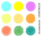 set of hand drawn circles of... | Shutterstock .eps vector #1536958133