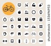 sports icons set.illustration... | Shutterstock .eps vector #153696953