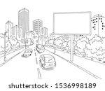 road billboard graphic black... | Shutterstock .eps vector #1536998189
