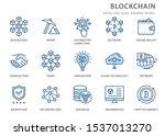 set of blockchain technology... | Shutterstock .eps vector #1537013270
