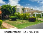 luxurious villa in dominican... | Shutterstock . vector #153703148