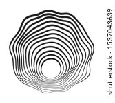 black concentric curved lines... | Shutterstock .eps vector #1537043639