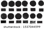 grunge post stamps collection ... | Shutterstock .eps vector #1537044599