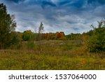 Stormy Autumn Landscape Under...