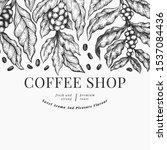 coffee vector design template.... | Shutterstock .eps vector #1537084436
