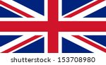 official uk flag of the united... | Shutterstock .eps vector #153708980