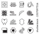 fabric icons. line with fill... | Shutterstock .eps vector #1537097516