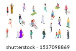 different people. isometric... | Shutterstock .eps vector #1537098869