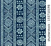 tribal vintage ethnic seamless  | Shutterstock .eps vector #153710198