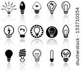 light bulbs vector icons set....   Shutterstock .eps vector #153710354