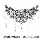 rose tattoo  mystic symbol.... | Shutterstock .eps vector #1537110836