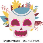 skull and spirit. there is a... | Shutterstock .eps vector #1537116926