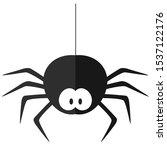 Funny Cartoon Spider. Flat...