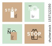 say no to plastic bags. stop... | Shutterstock .eps vector #1537122350