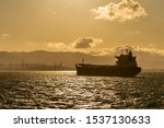 Cargo Ship On The Road At...