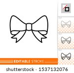 bow single thin line icon.... | Shutterstock .eps vector #1537132076