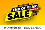 best offer end of year sale... | Shutterstock .eps vector #1537137800
