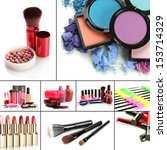 collage of cosmetic | Shutterstock . vector #153714329
