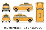 retro taxi cab vector mockup on ...   Shutterstock .eps vector #1537169390