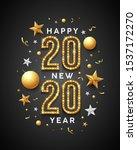2020 happy new year message...   Shutterstock .eps vector #1537172270