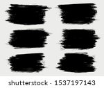 grunge collection. vector black ... | Shutterstock .eps vector #1537197143