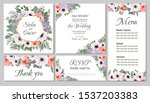 floral vector template for... | Shutterstock .eps vector #1537203383