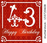 happy birthday card with number ... | Shutterstock .eps vector #153720608