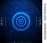futuristic vector hud interface ... | Shutterstock .eps vector #1537233113
