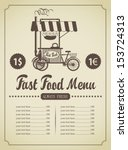 fast food menu with a mobile...
