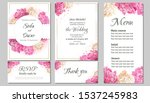 floral card for wedding... | Shutterstock .eps vector #1537245983