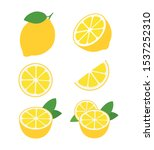 fresh lemon fruits collection...   Shutterstock .eps vector #1537252310