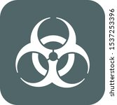 bio hazard icon. vector... | Shutterstock .eps vector #1537253396