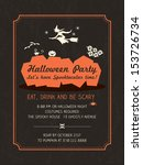 halloween party invitation... | Shutterstock .eps vector #153726734