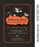 halloween party invitation... | Shutterstock .eps vector #153726734
