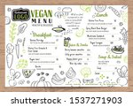 green organic food  vegan... | Shutterstock .eps vector #1537271903