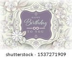 White Floral Greeting Card ...