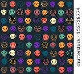 vector halloween seamless... | Shutterstock .eps vector #153728774