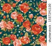 elegance floral seamless... | Shutterstock .eps vector #1537291130