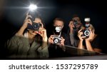celebrity looking from car at... | Shutterstock . vector #1537295789