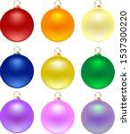 3d Realistic Christmas Balls O...