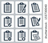 vector isolated clipboard  list ... | Shutterstock .eps vector #153730040