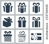 vector isolated gift  present... | Shutterstock .eps vector #153730430