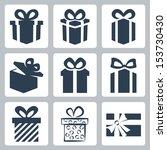 vector isolated gift  present... | Shutterstock .eps vector #153730430